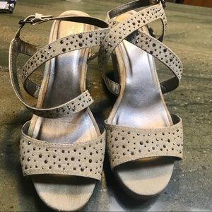 Wedge heels. Size 8.5. Sparkles